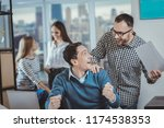 our victory. enthusiastic two... | Shutterstock . vector #1174538353