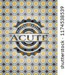 acute arabic badge. arabesque... | Shutterstock .eps vector #1174538539