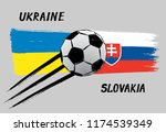 flags of ukraine and slovakia   ... | Shutterstock .eps vector #1174539349