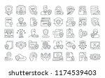 vector graphic set. editable...   Shutterstock .eps vector #1174539403