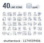 vector graphic set. editable... | Shutterstock .eps vector #1174539406