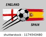 flags of england and spain   ... | Shutterstock .eps vector #1174543480
