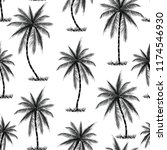 coconut palm tree pattern | Shutterstock .eps vector #1174546930