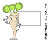 thumbs up with board character... | Shutterstock .eps vector #1174550746