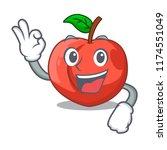 okay nectarines cartoon with... | Shutterstock .eps vector #1174551049