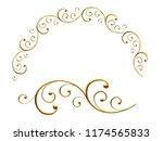 golden ornamental segment  ... | Shutterstock . vector #1174565833