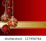 Red Christmas Card With...