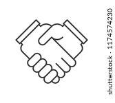 business hand or handshake icon ...   Shutterstock .eps vector #1174574230