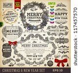 christmas decoration collection ... | Shutterstock .eps vector #117457570