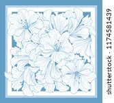 floral pattern decor for silk...   Shutterstock .eps vector #1174581439