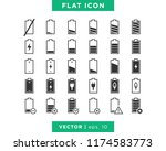 set of battery icons vector... | Shutterstock .eps vector #1174583773
