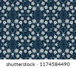 seamless vector pattern with... | Shutterstock .eps vector #1174584490