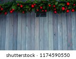 christmas decorated house.... | Shutterstock . vector #1174590550