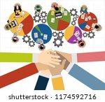 flat design illustration... | Shutterstock .eps vector #1174592716
