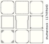 vector decorative frames  set... | Shutterstock .eps vector #117459640