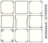 vector decorative frames  set... | Shutterstock .eps vector #117459640