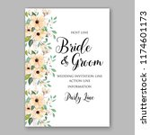 floral wedding invitation card... | Shutterstock .eps vector #1174601173