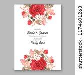red rose wedding invitation... | Shutterstock .eps vector #1174601263