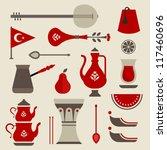 vector set of cute key travel... | Shutterstock .eps vector #117460696