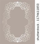 laser cut oval frame with... | Shutterstock .eps vector #1174611853