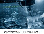 the abstract scene of 5 axis...   Shutterstock . vector #1174614253