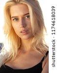 closeup portrait of attractive... | Shutterstock . vector #1174618039