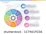 vector circle chart template | Shutterstock .eps vector #1174619236