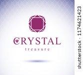 vector glossy gemstone design... | Shutterstock .eps vector #1174621423