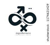 eternal couple conceptual logo  ... | Shutterstock .eps vector #1174621429