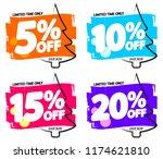 set christmas sale banners... | Shutterstock .eps vector #1174621810