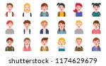 student avatar various hair... | Shutterstock .eps vector #1174629679
