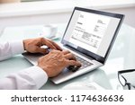 close up of a businessman's... | Shutterstock . vector #1174636636