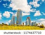 miami  high residential... | Shutterstock . vector #1174637710