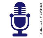 microphone vector icon... | Shutterstock .eps vector #1174638370