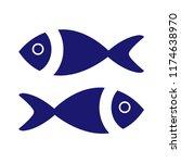 fish icon vector. fish icon... | Shutterstock .eps vector #1174638970