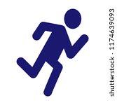 cardio icon vector.  | Shutterstock .eps vector #1174639093