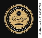 circle vintage badge logo... | Shutterstock .eps vector #1174645720