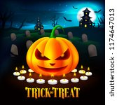 halloween pumpkins illustration ...   Shutterstock .eps vector #1174647013