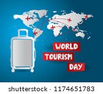 world tourism day tourism day... | Shutterstock .eps vector #1174651783