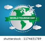 world tourism day tourism day... | Shutterstock .eps vector #1174651789