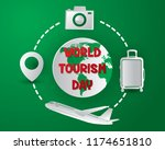 world tourism day tourism day... | Shutterstock .eps vector #1174651810
