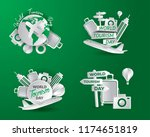 world tourism day tourism day... | Shutterstock .eps vector #1174651819