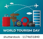 paper world tourism day tourism ... | Shutterstock .eps vector #1174651840