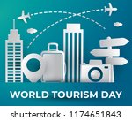 world tourism day tourism day... | Shutterstock .eps vector #1174651843