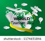 world tourism day tourism day... | Shutterstock .eps vector #1174651846