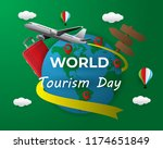 paper world tourism day tourism ... | Shutterstock .eps vector #1174651849