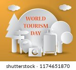world tourism day tourism day... | Shutterstock .eps vector #1174651870