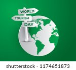 world tourism day tourism day... | Shutterstock .eps vector #1174651873