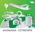 world tourism day tourism day... | Shutterstock .eps vector #1174651876