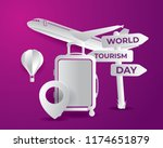 world tourism day tourism day... | Shutterstock .eps vector #1174651879